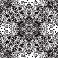 Seamless oriental ornament in the style of baroque.