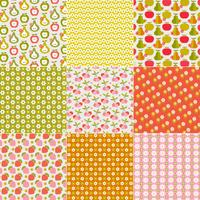Retro Fruit & Flower Patterns