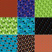 Bright Halloween Patterns