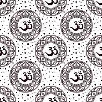 Om symbol seamless pattern.