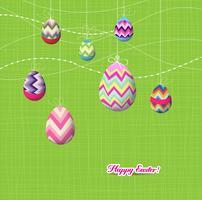 Espumante ornamentos de ovos de Páscoa