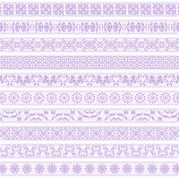 lavender lace border patterns