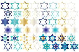 Clipart de estrela judaica vetor