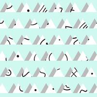 Sin fisuras patrón abstracto vintage con triángulos en el estilo de 80 s.