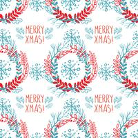 Seamless pattern of Christmas wreaths.