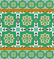 Spanish classic ceramic tiles  vector