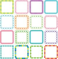 Mod Square Frames Clipart vector