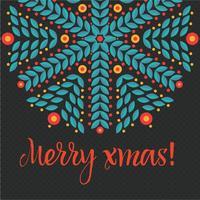 Tarjeta de navidad de la vendimia