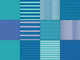 Turquoise Blue Wave Patterns