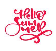 Kalligrafi bokstäver frasen Hello Summer