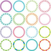 Mod Circle Frames Clipart vector