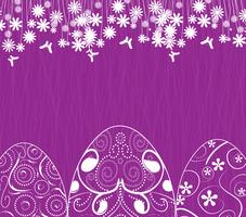 easter background with eggs ornament