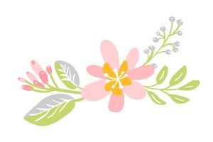 platte geïsoleerde bloem op witte achtergrond