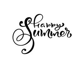 Happy Summer - Calligraphy lettering phrase vector