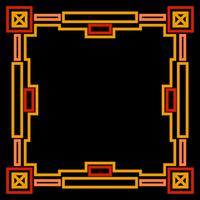 Cadre avec or géométrique