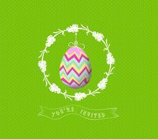 huevo de Pascua invitado tarjeta de felicitación