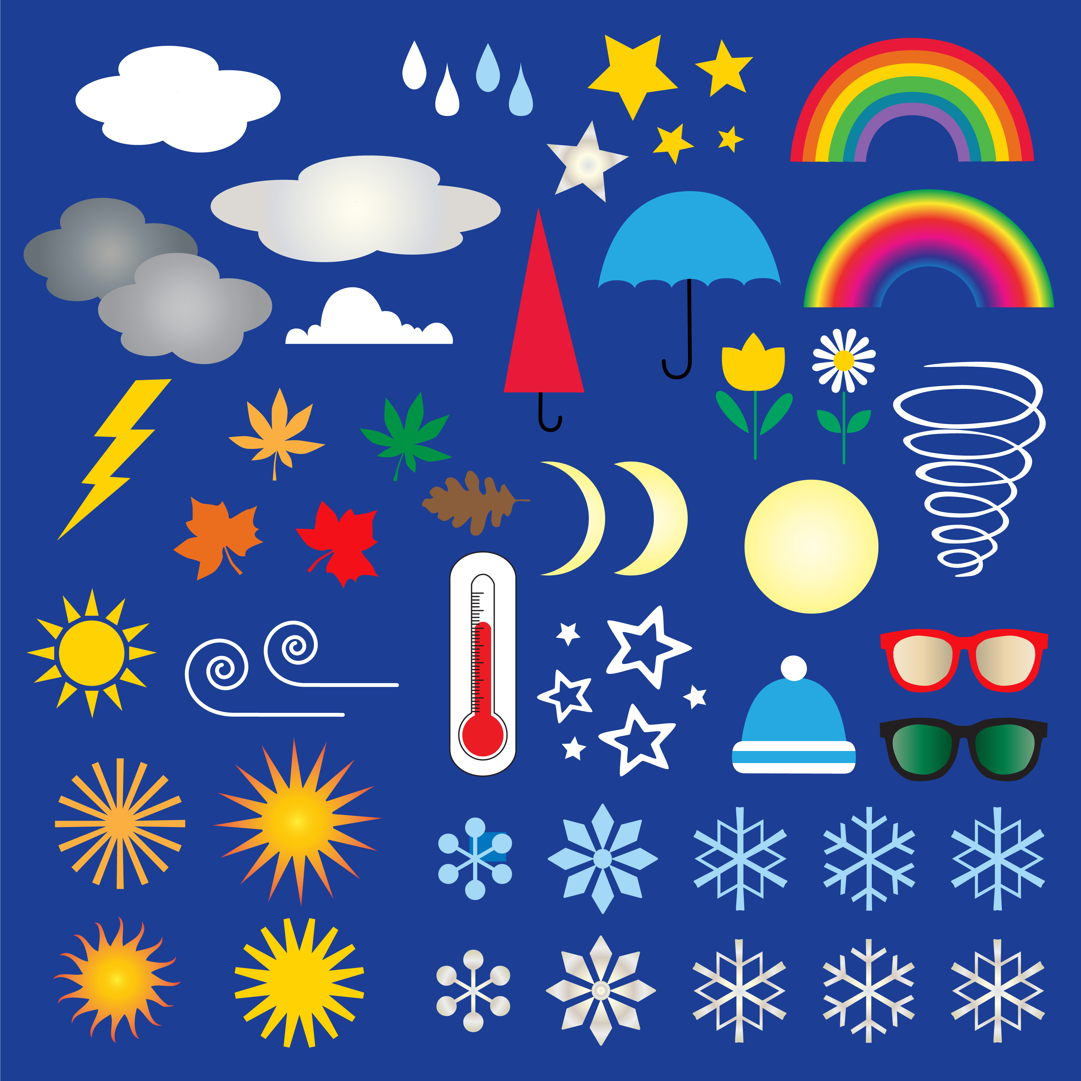 Come Rain or Shine: 20 Packs of Free Weather Clipart and Icons