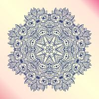 Mandala. Bloemen vintage ronde amulet tattoo