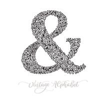 Vector monoline sign - ampersand. Vintage logo monogram Concept Icon