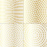 gold metallic circle patterns vector