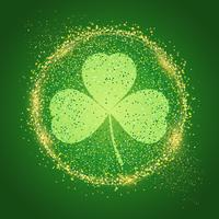 St Patrick's Day background with shamrock vector
