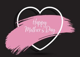 Mother's Day background with grunge paint stroke in heart