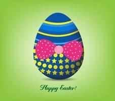Feliz Pascua tipográfico y fondo de huevos vector
