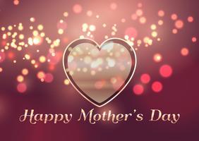 Fundo de dia das mães com design de coração