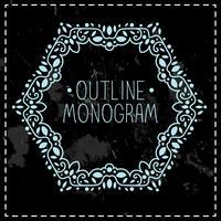 linha mono moldura vintage