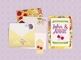 Wedding invitation,