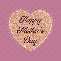 Happy Mother's Day heart background