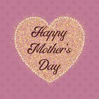 Feliz dia das mães coração fundo
