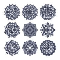 Set of mandalas. Indian wedding meditation.