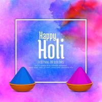 Abstract Happy Holi celebration background vector
