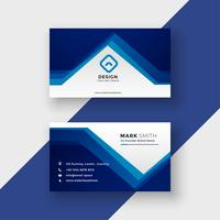 modern blue geometric style business card