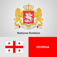 Georgia National Emblem, Karte und Flagge