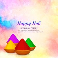 Abstract Happy Holi festival greeting background vector