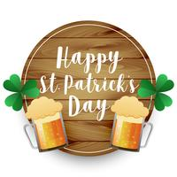 beer mugs St. Patrick's day background