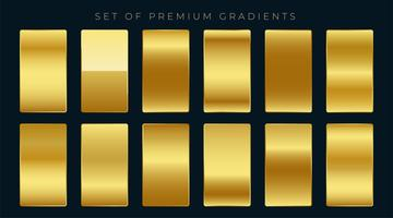 premium set of golden gradients