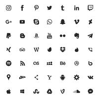 Social media and apps icon set