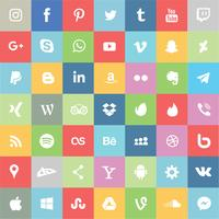Social media en apps icon set