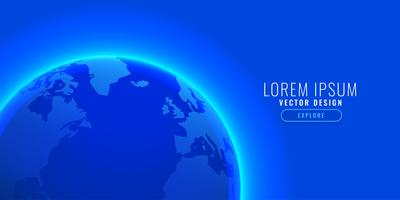 blå jord bakgrund med text utrymme