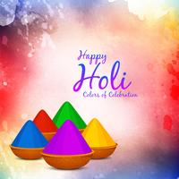 Abstract Happy Holi festival greeting background