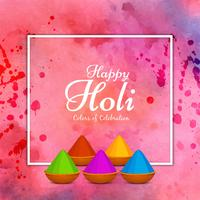 Abstract colorful Happy Holi greeting background design