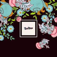Cartão de modelos de banner de design de tempo de chá