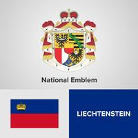 Liechtenstein National Emblem, Karta och flagga