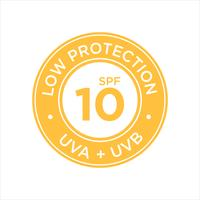 Protection UV, protection solaire, faible SPF 10