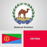 Eritrea National Emblem, Map and flag