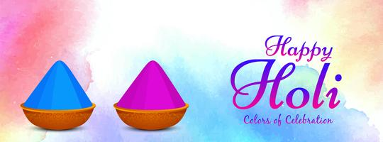 Abstract Happy Holi kleurrijke sjabloon voor spandoek