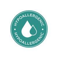 Hypoallergenic green icon vector